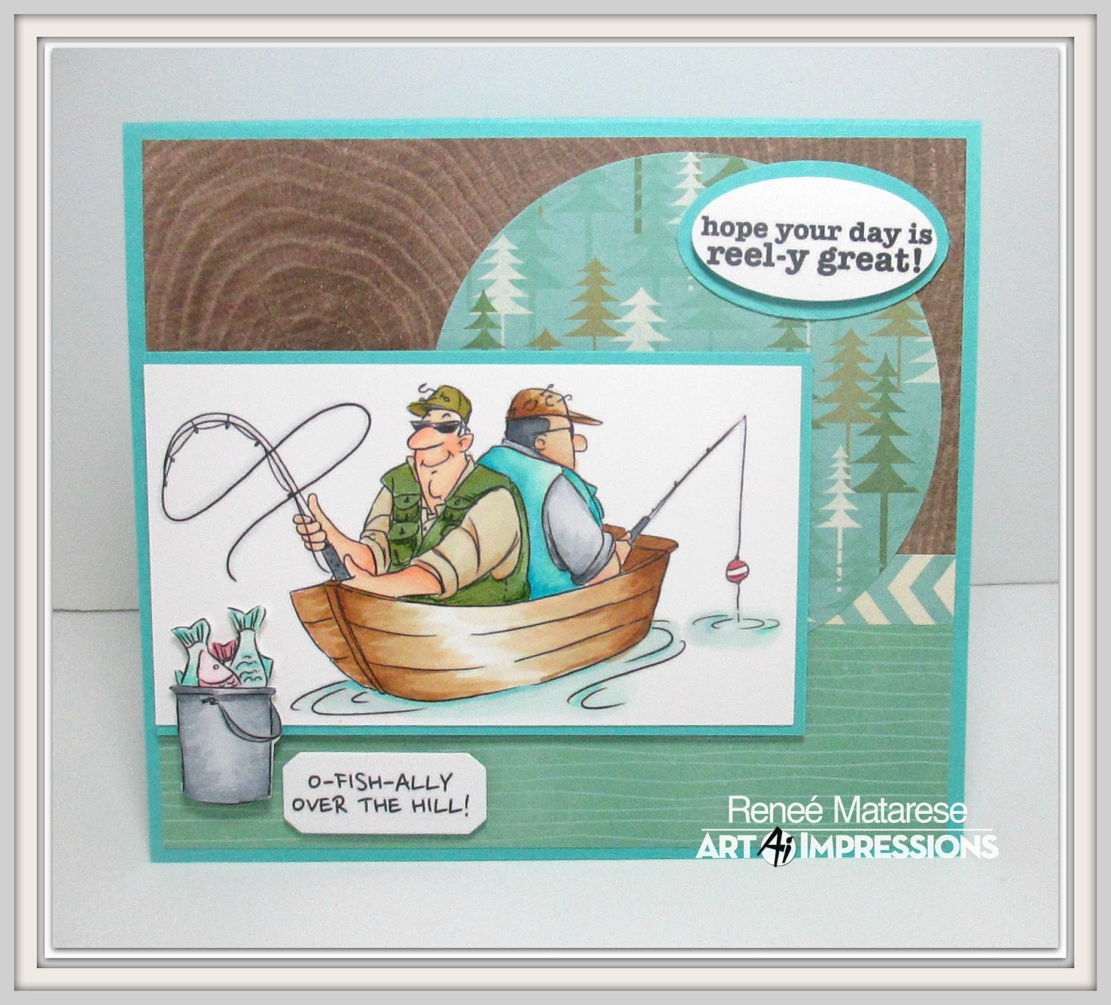 Art impressions blog fishing and father 39 s day for Fishing birthday cards