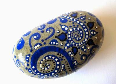 piedras, rocas, decoración, pintura, Tutorial de Artesanía, puntillismo