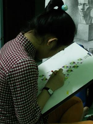 học vẽ chì màu tp hcm