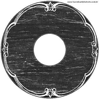 Blackboard Style, Free Printable CD Label.