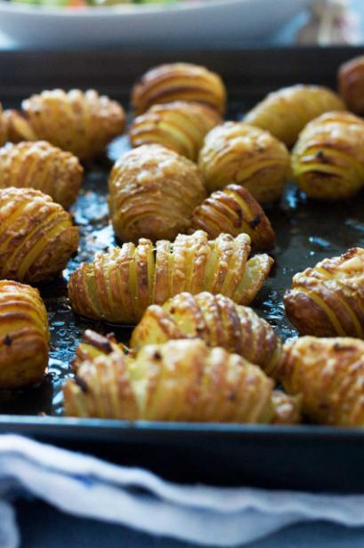 Míní Garlíc & Parmesan Hasselback Potatoes