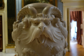 Wallace Collection London Marble Vase Gargoyle Face