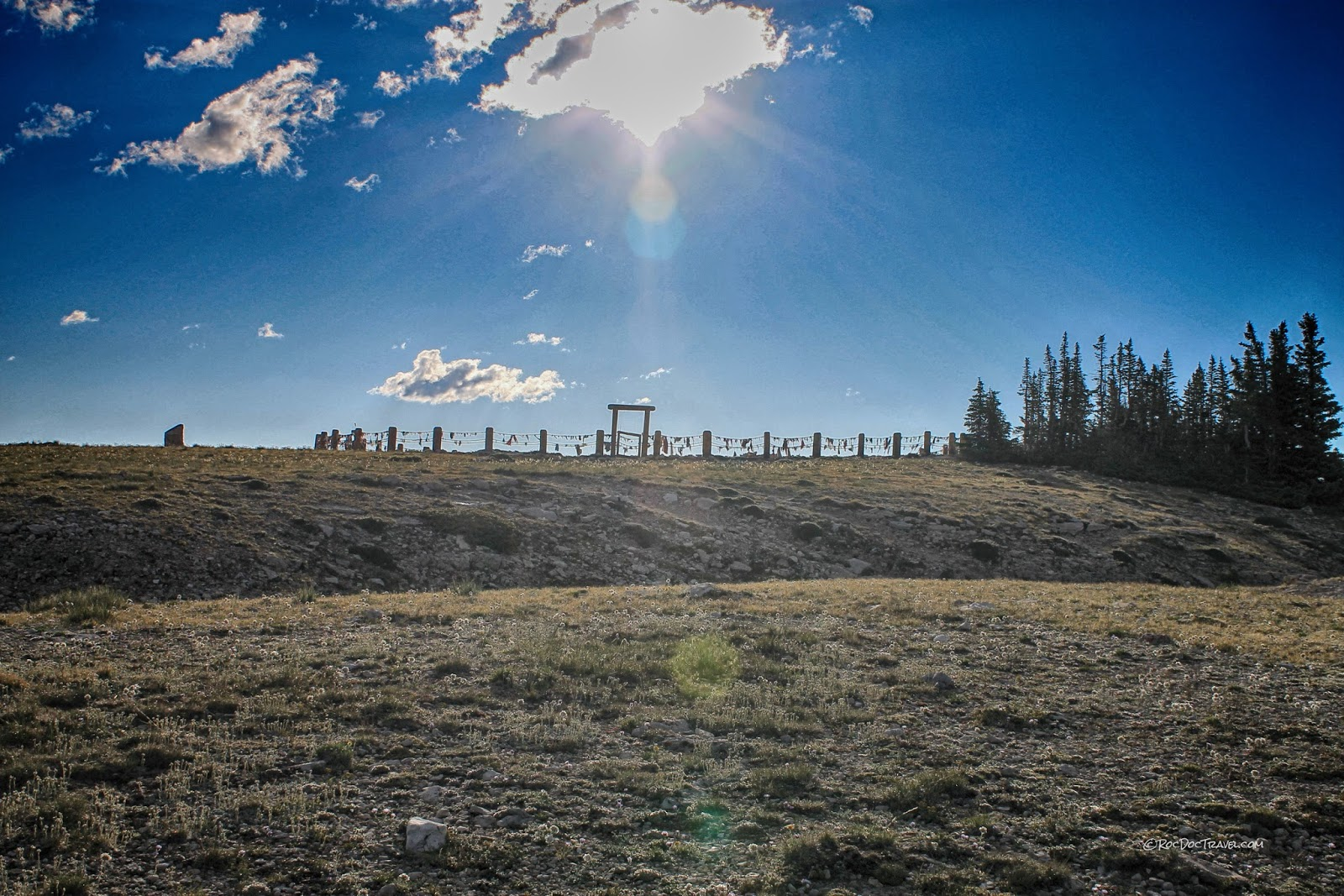 Medicine Wheel historic site Wyoming Bighorn Mountains copyright RocDocTravel.com