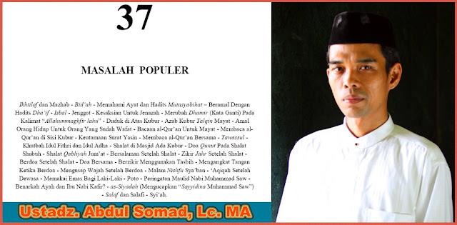 download buku pdf 37 masalah populer abdul somad