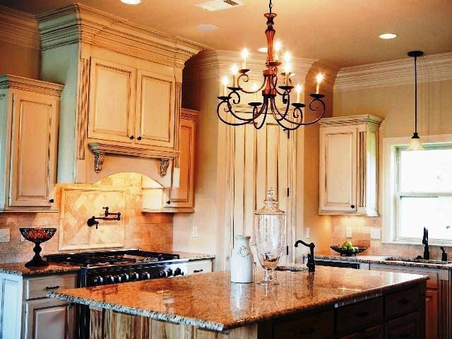Wall paint colors for kitchen for Cream kitchen wall units