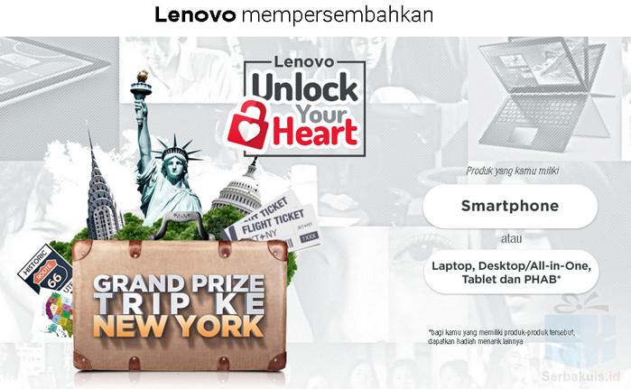 Promo Lenovo Unlock Your Heart Berhadiah Trip ke New York
