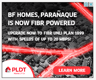 Sample ad from PLDT Fibr