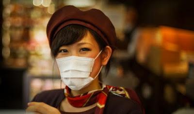 japonesa costume usar máscara japoneses