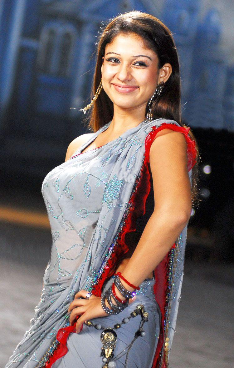 Malayalam Girl Nayanthara Latest Photos In Blue Saree