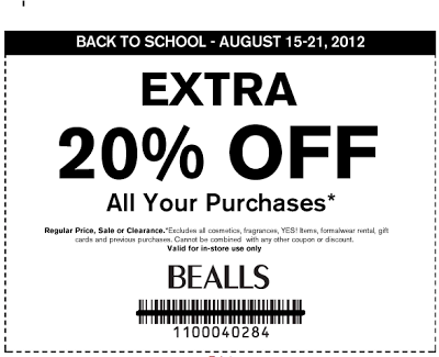 Free Printable Coupons: Bealls Coupons