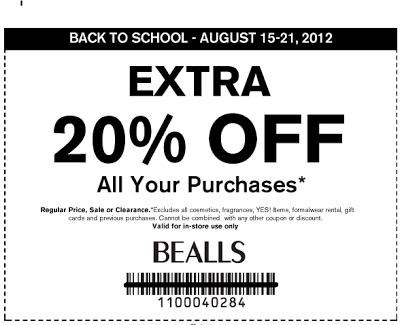 photograph regarding Free Printable Bealls Florida Coupon identified as Bealls florida inside retail store printable discount coupons : September 2018 Bargains