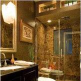 Emperador Dark Marble Bathroom Ideas so elegant and luxurious
