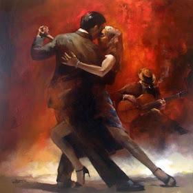 Pintura moderna y fotograf a art stica tango cuadros de - Cuadros de parejas ...