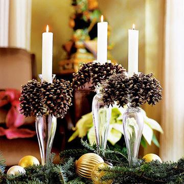 Decoration Table Pomme De Pin Noir