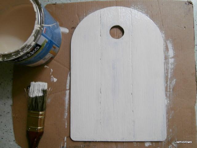 pomalowaną deskę suszymy