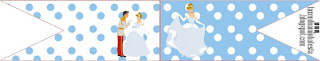 Cinderella Birthday Party Food Toppers or Flags
