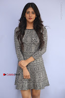 Actress Chandini Chowdary Pos in Short Dress at Howrah Bridge Movie Press Meet  0009.JPG