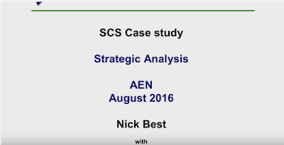 SCS August 2016 - Strategic analysis models