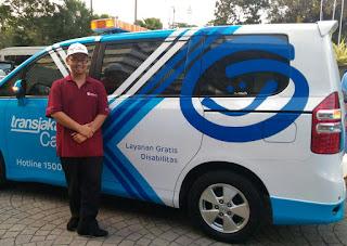 Salah Satu Mobil Transjakarta Cares