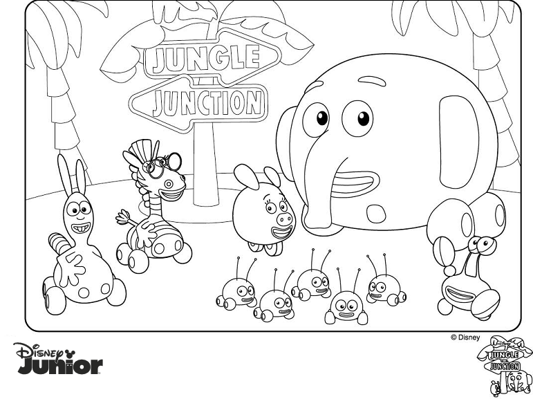 Juegos Dibujos Para Colorear De Disney Junior: Dibujos Para Colorear De Disney Junior Para Imprimir