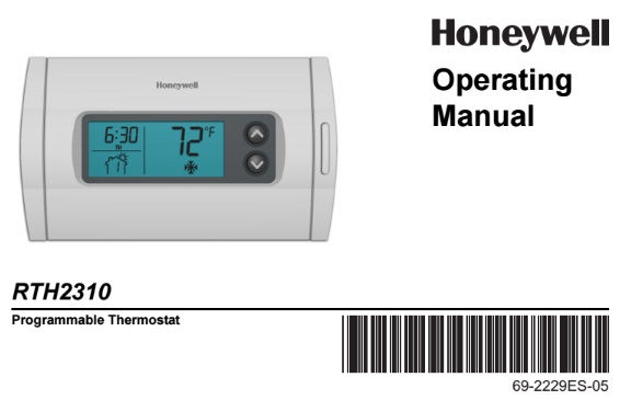 how to change a honeywell thermostat to permenant temperuture