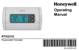 Honeywell RTH2310 Manual