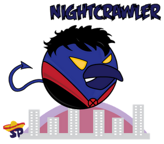 Nightcrawler Superheroes estilo Angry Birds