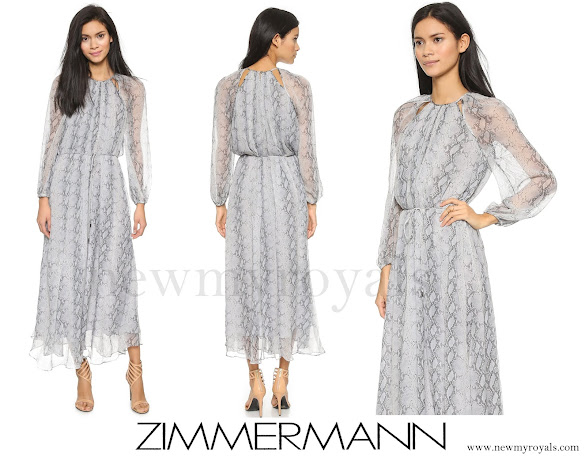 Crown Princess Mary wore a Zimmermann Seer Snake Dress