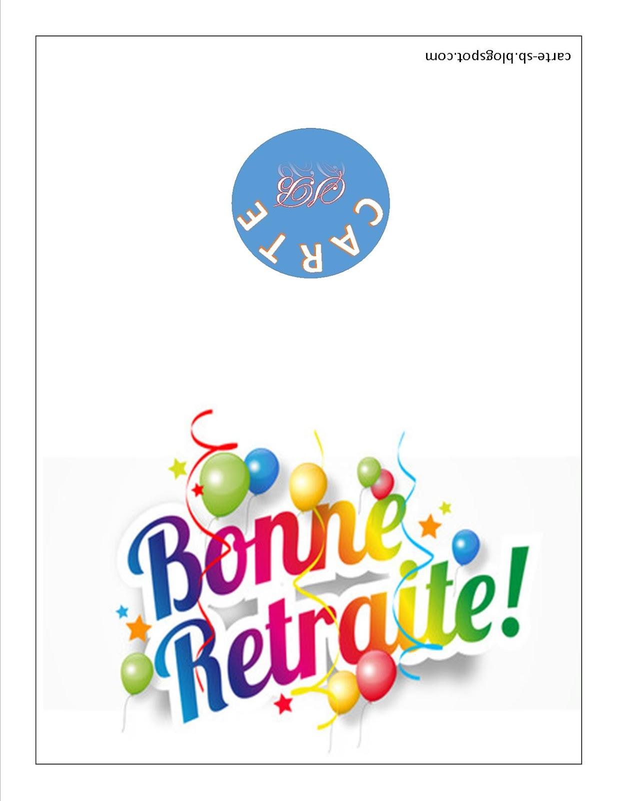 Carte Gratuite A Imprimer Carte De Retraite A Imprimer Gratuite