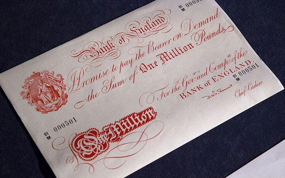 one million pound banknote