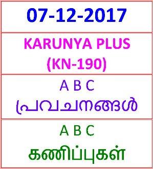 07-12- 2017 A B C Predictions KARUNYA PLUS KN-190