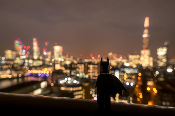 Batman at Canary Wharf