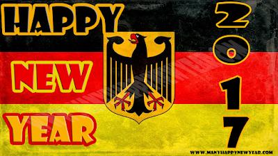 Happy New Year Germany Flag