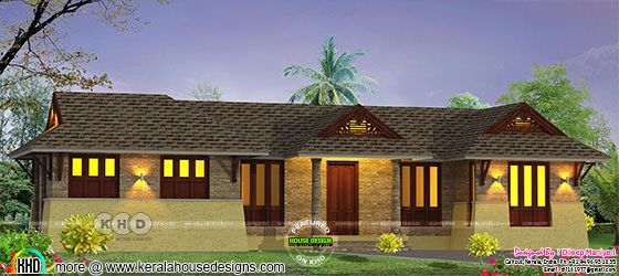 1167 square feet 3 bedroom single floor traditional home