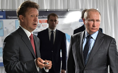 Vladimir Putin visiting the construction site of the Amur Gas Processing Plant.
