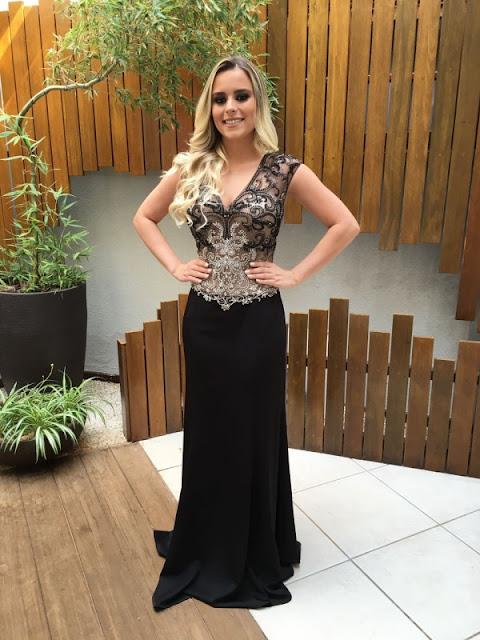 vestido de festa preto longo
