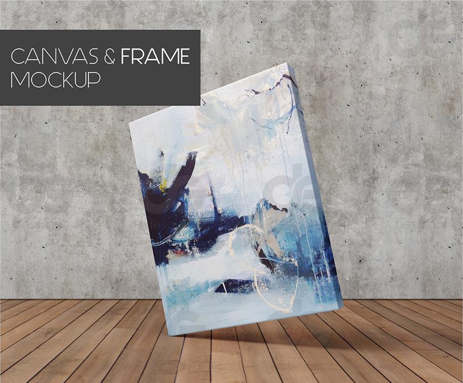 Free Minimalist Canvas Art Frame Mockup