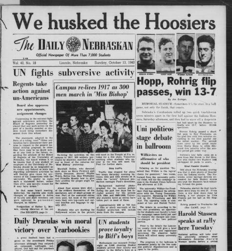 13 October 1940 worldwartwo.filminspector.com Daily Nebraskan