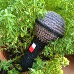 patron gratis microfono amigurumi | amigurumi free pattern microphone