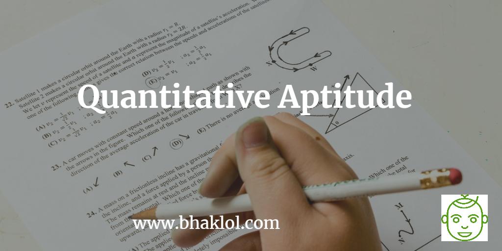 Quantitative Aptitude for IBPS Clerk Prelims Examination