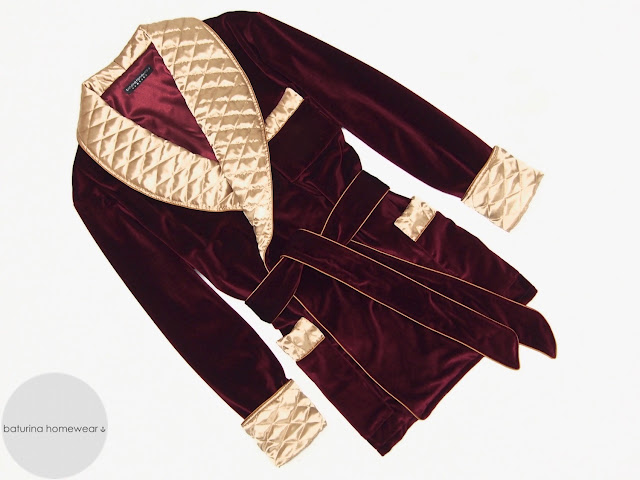 mens red velvet smoking jacket quilted gold silk robe dressing gown warm lined dressing gown