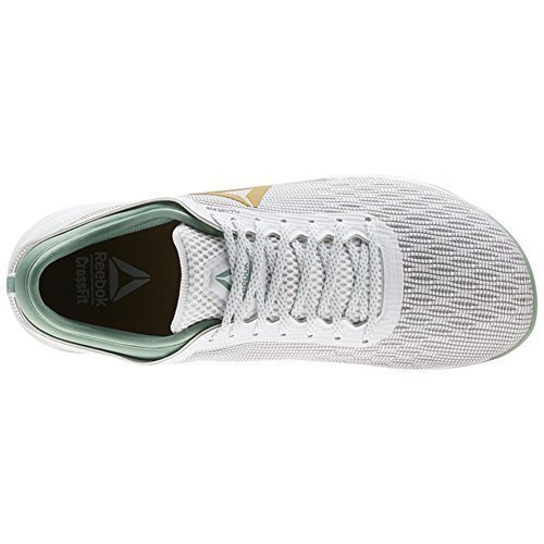 da8093783597ab Reebok Crossfit Nano 8 Flexweave Shoe Women s Crossfit 7 White-Gold-Industrial  Green 2019