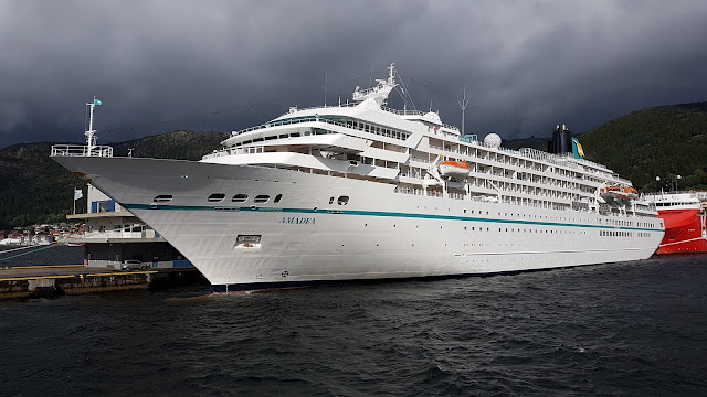 Cruise ship Amadea in Bergen, Norway; Phoenix Reisen