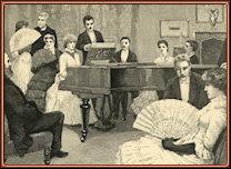 Sophy al piano. Grabado