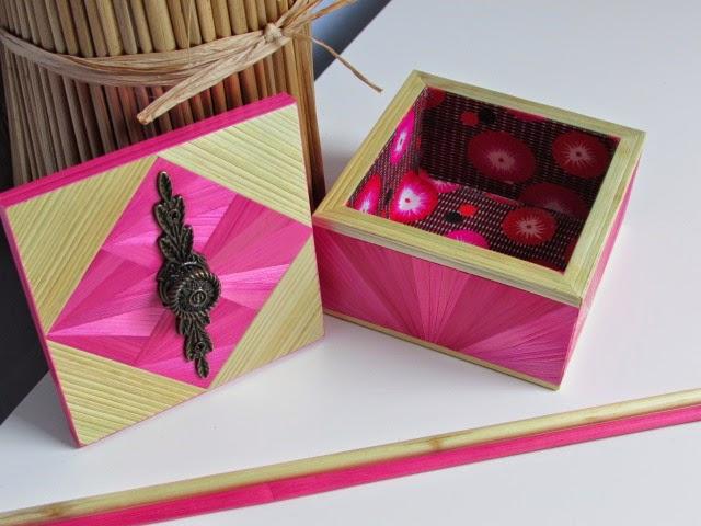 lapaillendeco petite bo te bijoux d cor e en marqueterie de paille. Black Bedroom Furniture Sets. Home Design Ideas