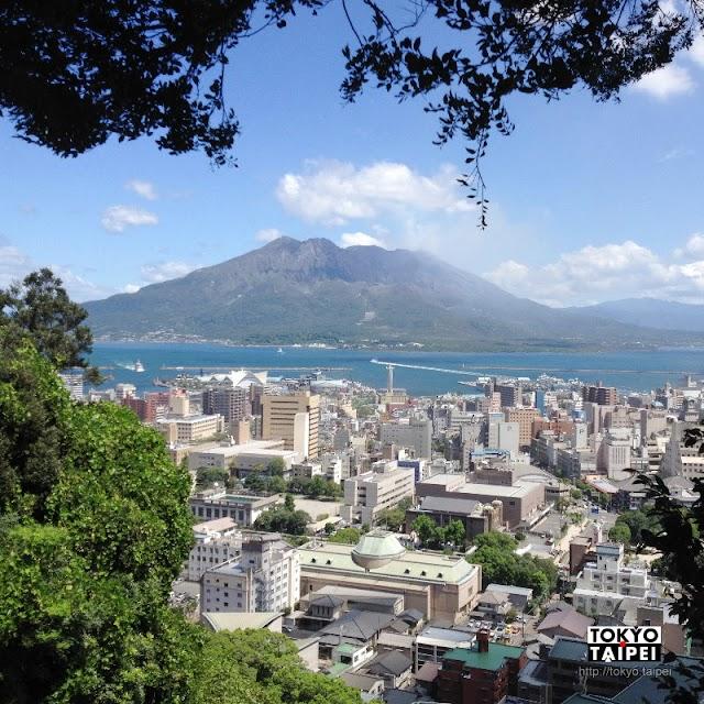 【城山展望台】在107公尺小山上 欣賞整座櫻島火山的美景