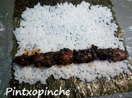 arroz, sushi, arroz, soja, comida japonesa