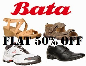 Great & Steal Deal: Flat 50% Off on Men / Women's / Kids BATA Footwear