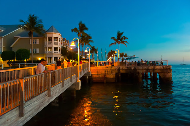 Por do sol na Mallory Square Key West em Miami