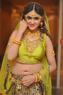 Sony Charishta in Green Choli Ghagra Transparent Chunni Ethnic Wear March 2017 013.JPG